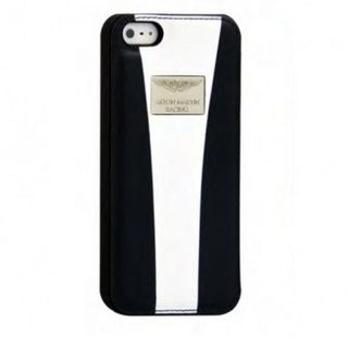 iPhone 5/5S Racing Strap Deep Blue/White Back Case