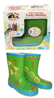 Paint Your Own Funky Wellies - Green Size 28