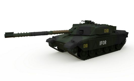 Waltersons - Tank British Challenger 1 Forest Camouflage R/C, 1:72 Scale