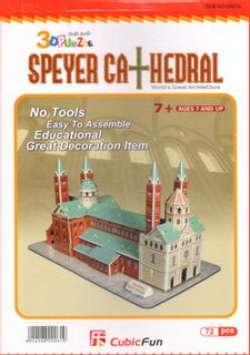 3D Puzzle - Speyer Cathedral, 72 Pieces