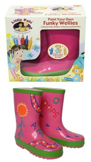 Paint Your Own Funky Wellies - Rose Size 26
