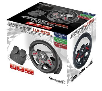 Subsonic SuperDrive SV400 Racing Wheel with Pedals (PS4, PS3, Xbox One, PC)
