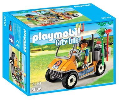Playmobil: City Life - Zookeepers Cart, 46 Pieces
