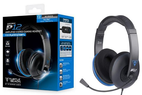 Turtle Beach P12 Amplified Stereo Gaming Headset Wired - Black/Blue (PS4, PS Vita)