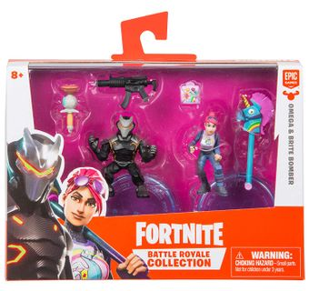 Fortnite: Battle Royale Collection 2-Pack - Omega and Brite Bomber Action Figures, Wave 1