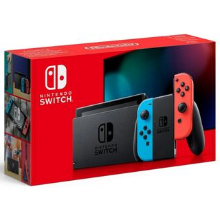 Nintendo Switch with Neon Red and Blue Joy-Con - Updated Version