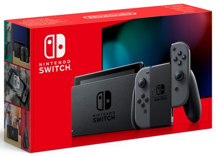 Nintendo Switch with Gray Joy-Con - Updated Version