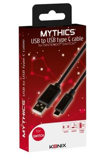 Konix Mythics: Charge and Sync USB Type-C Cable - Black, 2m (Switch)