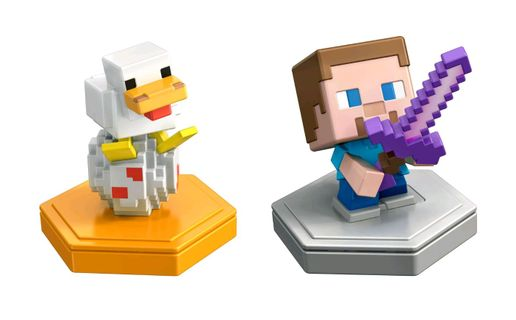 Minecraft Earth 2-Pack - Attacking Steve and Spawning Chicken Boost Minifigures