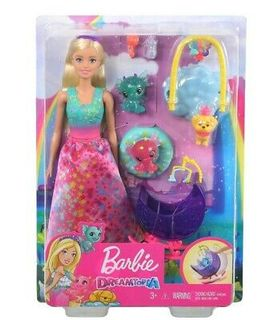 Barbie - Dreamtopia Nurturing Story - Princess with Honey and Baby Dragons
