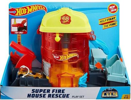 Hot Wheels - City - Super Fire House Rescue Play Set