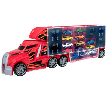 Teamsterz - Stunt Transporter with 10 cars