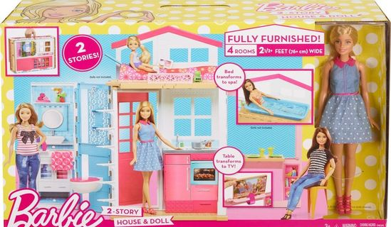Barbie - Large Playhouse with Doll