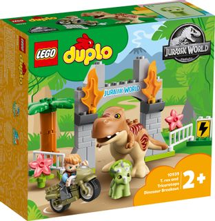 LEGO DUPLO T. rex and Triceratops Dinosaur Breakout