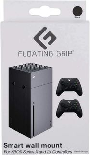Floating Grip Wall Mount Bundle for Xbox Series X and Controllers - Black