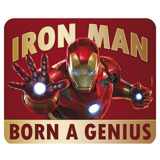 Mouse Pad Marvel Iron-Man - Born to be a Genius, Flexible 235x195mm
