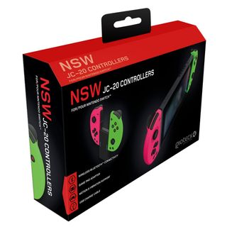 Gioteck JC-20 Controllers - Pink/Green (Switch)