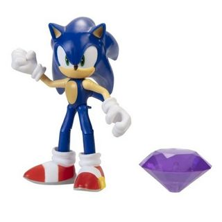 Sonic The Hedgehog - Sonic Figure with Acessory (Wave 3), 10cm