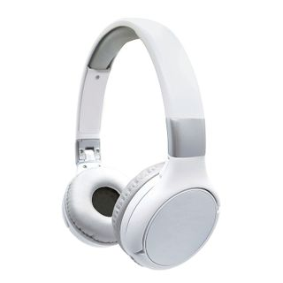 Lexibook - 2 in 1 Bluetooth and Wired comfort foldable Headphones White/silver