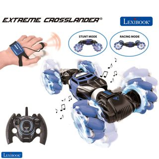 Lexibook - Extreme Crosslander - Rechargeable Radio Controlled Stunt Car with lights and sounds with