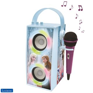 Lexibook - Frozen Trendy Portable Bluetooth Speaker with mic and amazing lights effects