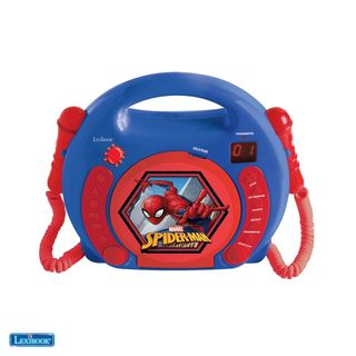Lexibook - Spider-Man Portable CD player with 2 Sing Along microphones