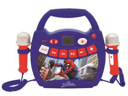 Lexibook - SpiderMan Portable Digital Music Player with 2 Mics and Lights