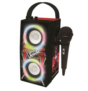 Lexibook - The Voice Trendy Portable Bluetooth Speaker with mic and amazing lights effects