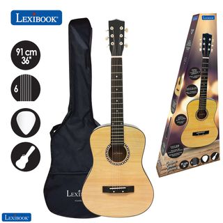 Lexibook - Wooden Acoustic Guitar - 36'' with carry bag