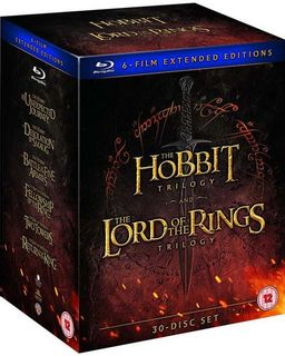 BLU-RAY Hobbit Trilogy & Lord of the Rings Trilogy: Extended Editions 30-Disc Set