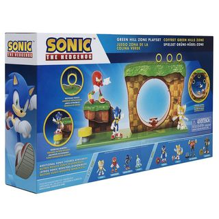 Sonic The Hedgehog - Green Hill Zone Playset, 10 Pieces