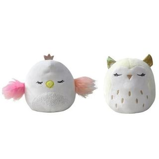 Squishmallows: Flip A Mallow - Serena the Swan and Vee the Owl 2-in1 Plush, 13cm