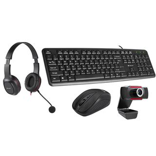 Tracer Multi-Office 4-in-1 - Keyboard, Mouse, Webcam and Headphones