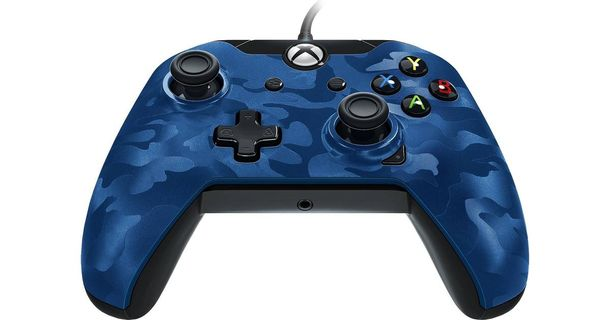 PDP Wired Controller Xbox Series X Blue Camo