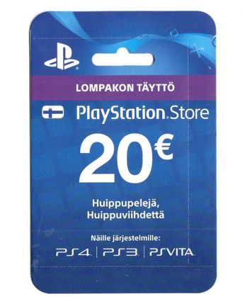PlayStation Network 20 EUR Card - Finland PSN Only