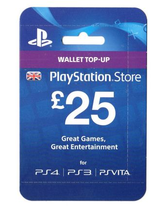 PlayStation Network 25 GBP Card - UK PSN Only