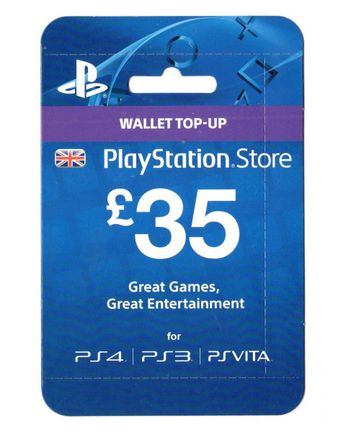 playstation network 35 gbp card - uk psn only | sony