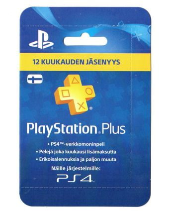 PlayStation Plus 12 Month Membership Card - Finland PSN Only