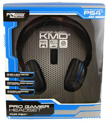 KMD Pro Gamer Headset Wired - Black (PS4)