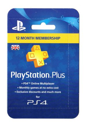 PlayStation Plus 12 Month Membership Card - UK PSN Only
