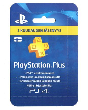 PlayStation Plus 3 Month Membership Card - Finland PSN Only