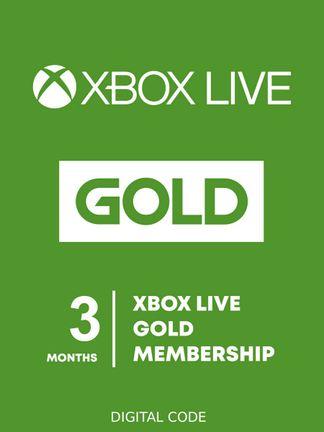 Xbox LIVE Gold 3 Month Membership - Digital Code (Xbox One, Xbox 360)