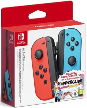 Switch Joy-Con Pair - Neon Red/Blue Snipperclips Bundle