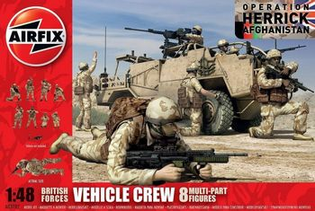 British Forces Vehicle Crew Figures Model Kit, 1:48 Scale