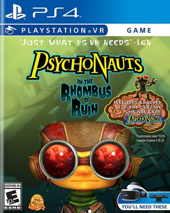 PS VR Psychonauts in the Rhombus of Ruin US Version