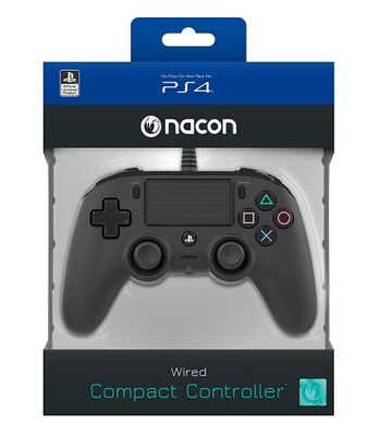 Nacon Compact Controller Wired - Black (PS4)