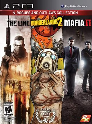 PS3 2K Rogues and Outlaws Collection: Spec Ops: The Line, Borderlands 2 and Mafia II US Version