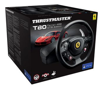 Thrustmaster T80 Ferrari 488 GTB Edition Wheel (PS4, PS3)