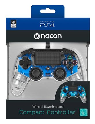 Nacon Compact Controller Wired - Illuminated Blue (PS4)