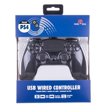 Freaks and Geeks USB Wired Controller - Black (PS4, PC)